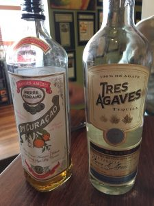 Pierre Ferrand Dry Curacao and Tres Agaves Tequila